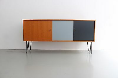 teak sideboard 50er 60er kommode 50s 60s vintage. Black Bedroom Furniture Sets. Home Design Ideas