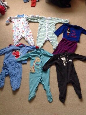 6-9 month baby grows / pyjamas bundle