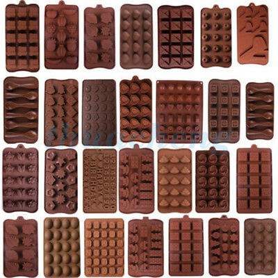 20 Shapes Silicone Cake Decorating Moulds Candy Cookies Chocolate Baking Mold M