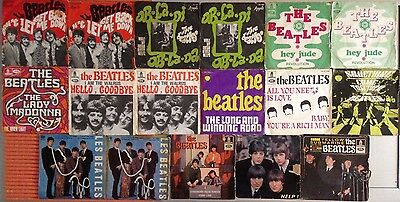 Lot Disques 45T Special The Beatles