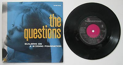 "The Questions - Building On A Strong Foundation 7"" Single 45 Vinyl"