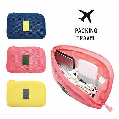 Travel Pouch Cable Phone Ticket Wallet Camera Make Up Holder Bag Organiser