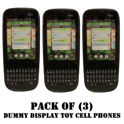 Pack of (3) Verizon Palm Pixi Plus Mock Dummy Display Toy Cell Phone for Display