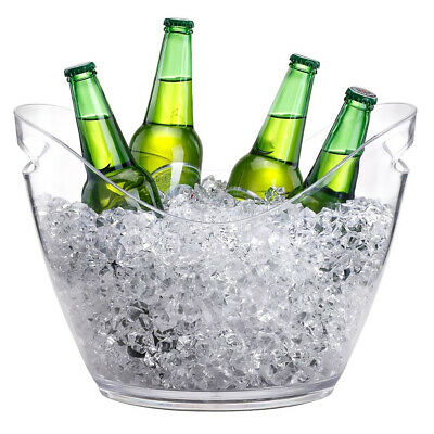 Ice Bucket Champagne Wine Beer Drinks Cooler Retro Party Xmas Decor 4L/8L