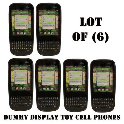 Lot of (6) Verizon Palm Pixi Plus Mock Dummy Display Toy Cell Phone for Display
