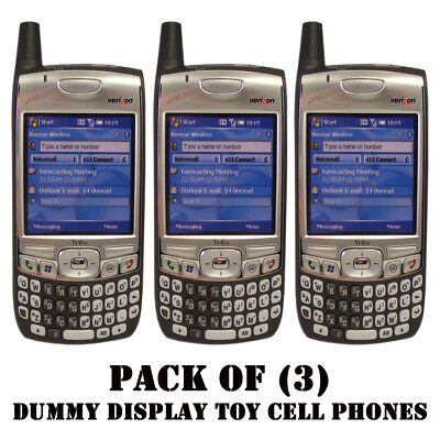 Pack of (3) NEW Verizon Palm 700w/700wx/Treo Dummy Display / Kids Toy Cell Phone