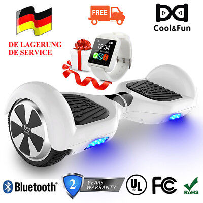 "6,5"" Elektro Scooter Mit Bluetooth-Uhr HoverBoard Smart Elektroroller E-Scooter"