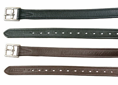 Top Quality Calfskin Passier Stitched Stirrup Leathers in Black or Brown