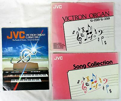 Jvc Victron Organ G-350 G-250 Owner's Manual, Brochure And Song Book