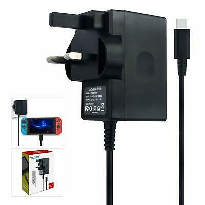 MGS Branded USB Mains True Fast Charger - 2.6A For Nintendo Wii Switch - Black