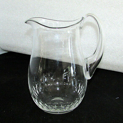 """Orrefors Crystal Prelude Pitcher Applied Handle 7 1/2"""" Made In Sweden"""