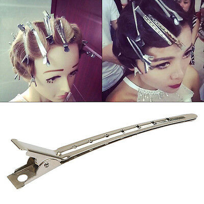 24Pcs Metal Non-Slip Hair Sectioning Sprung Clips Strong Grip Hairdressing Salon