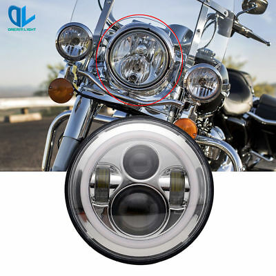 """7"""" LED Projector Daymaker Chrome Headlight Harley Street Glide Softail"""