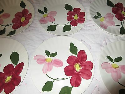 Rare SOUTHERN POTTERIES Blue Ridge Georgia Belle Pattern 4017 Plates(6) set
