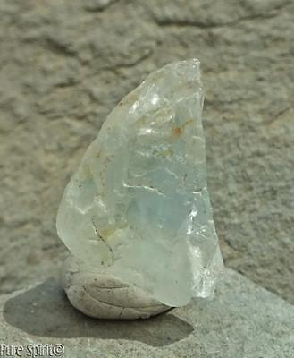 Raw Blue Topaz Crystal Untreated Brazilian Facet Rough Mineral Specimen 3.6g