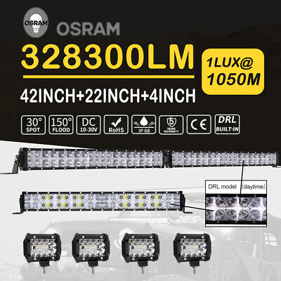 """Lumileds 4032W 36Inch LED Light Bar Flood Spot For Ford Jeep 4WD ATV SUV 42""""32''"""