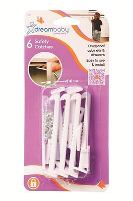 Dreambaby Safety Catches Push Release 6 Pack