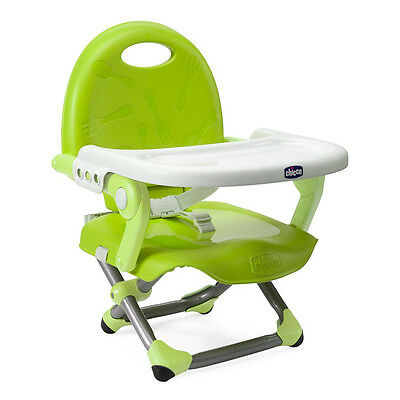 Chicco Child's Travel Pocket Snack Booster Seat - Lime Green - New