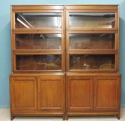 A Pair Of Antique Gunn Office,lawyer Or Library Bookcases Circa 1900-1920