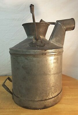 Vintage STANDARD OIL Co Indiana 5 Gallon Metal Gas Water Oil Can Pail