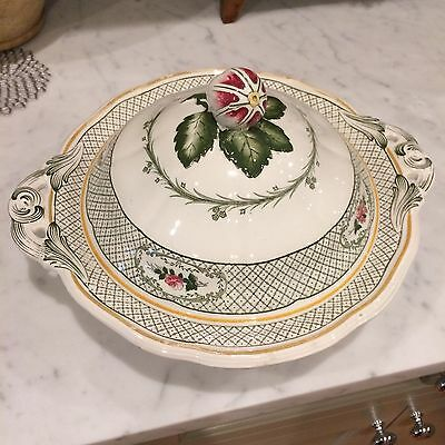 """Antique Serving Tureen with lid from Mintons in """"Orion"""" pattern. England."""