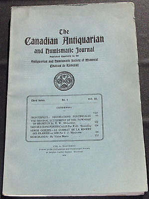 Canadian Antiquarian and Numismatic Journal ser 3 vol 11 no 3