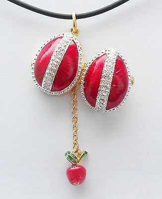 Faberge Egg Pendant Red Rays