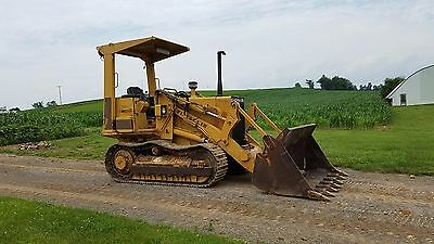 1989 Fiat Allis FL5B Track Loader Diesel Engine Hydraulic Machine w/ 4/1 Bucket