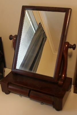 Antique Wooden Vanity Mirror with draws