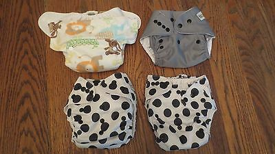 Lot of 4 MG Baby Cloth Diapers! One-Size Pocket Style!