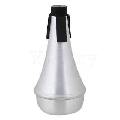 Yibuy Aluminum Alloy Trumpet Mute Silencer Silver