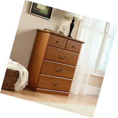 Sauder Orchard Hills 4 Drawer Chest Carolina Oak Finish