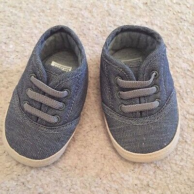 Baby Boys Grey Trainers / Shoes 0-3 Months