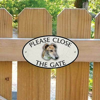 Please Close The Gate Sign, GREYHOUND Gate Sign, Dog Gate Plaque, Stone Effect