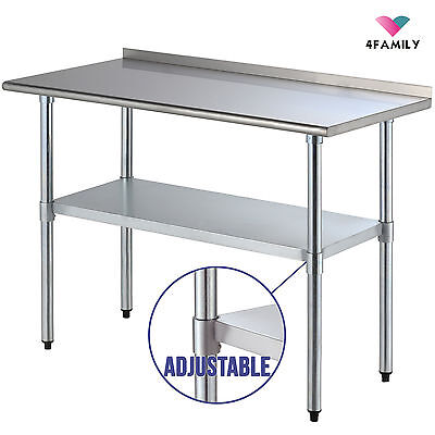 "24"" x 48"" Stainless Steel Work Prep Table Backsplash Kitchen Restaurant"