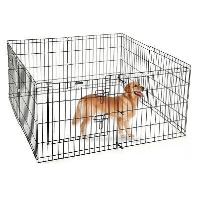 Portable Folding Exercise Pet Playpen Dog Puppy Fences Gate Home Indoor Outdoor