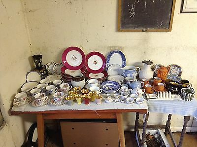 Job lot Collection of Old China Crockery.