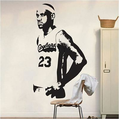 LEBRON JAMES Basketball Cavs Poster  Home Decor Wall Decal Vinyl Wall Stickers