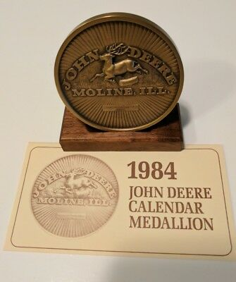 John Deere 1984 Bronze Medallion Calendar Collectors Limited Edition