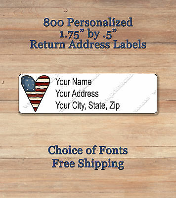 800 personalized self adhesive printed return address labels american heart