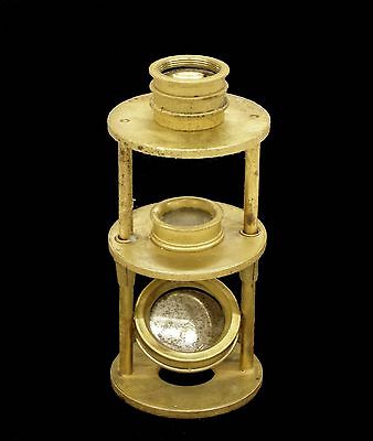 Antique early 19th c. brass Withering type microscope