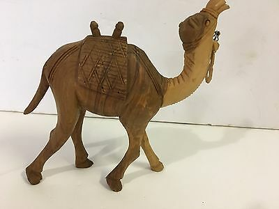 """Hand Carved Camel-6""""-wooden-Great Artwork-Asian-numbered"""