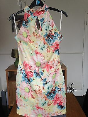 Fitted Summer Dress Size10 New