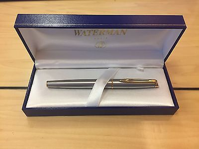 New: Silver Waterman Fountain Pen, engraved on cap, still in box