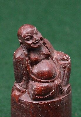 VINTAGE CHINESE CARVED HARD STONE HAND STAMP/SEAL./CHOP. ( For name FIONA)