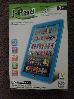 """Kids Learning Children Tablet English Education J-Pad Y-pad Toy 8"""" Blue"""