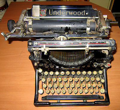Vintage Underwood Standard Typewriter No.5 1920's - Good Condition