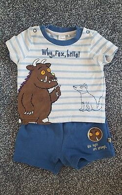 Gruffalo top and shorts set. 0-3 months. Excellent condition!
