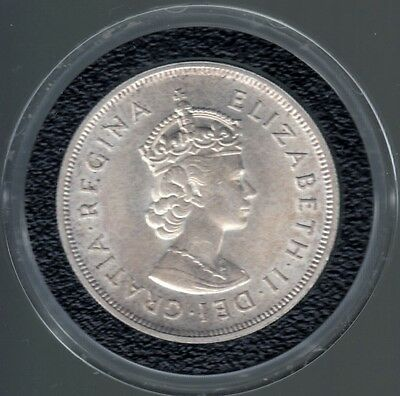 Unc. Bermuda One Crown 350th Anniversary 1609-1959 Silver Coin - KM#13