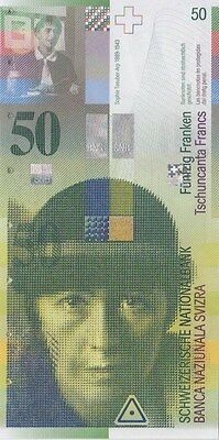 Switzerland  Banknote P# 71    50 Francs  Uncirculated   Usa Seller